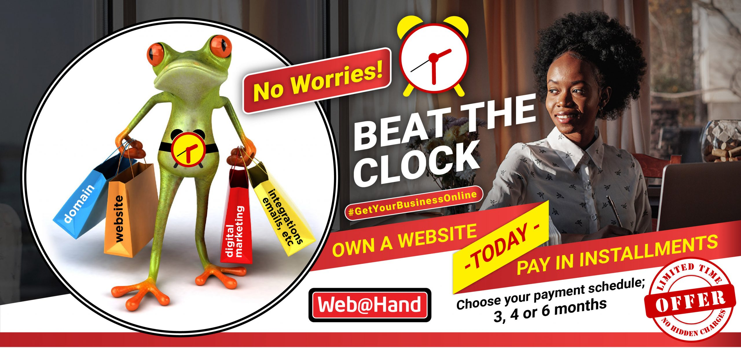 Own a website today and pay in installments